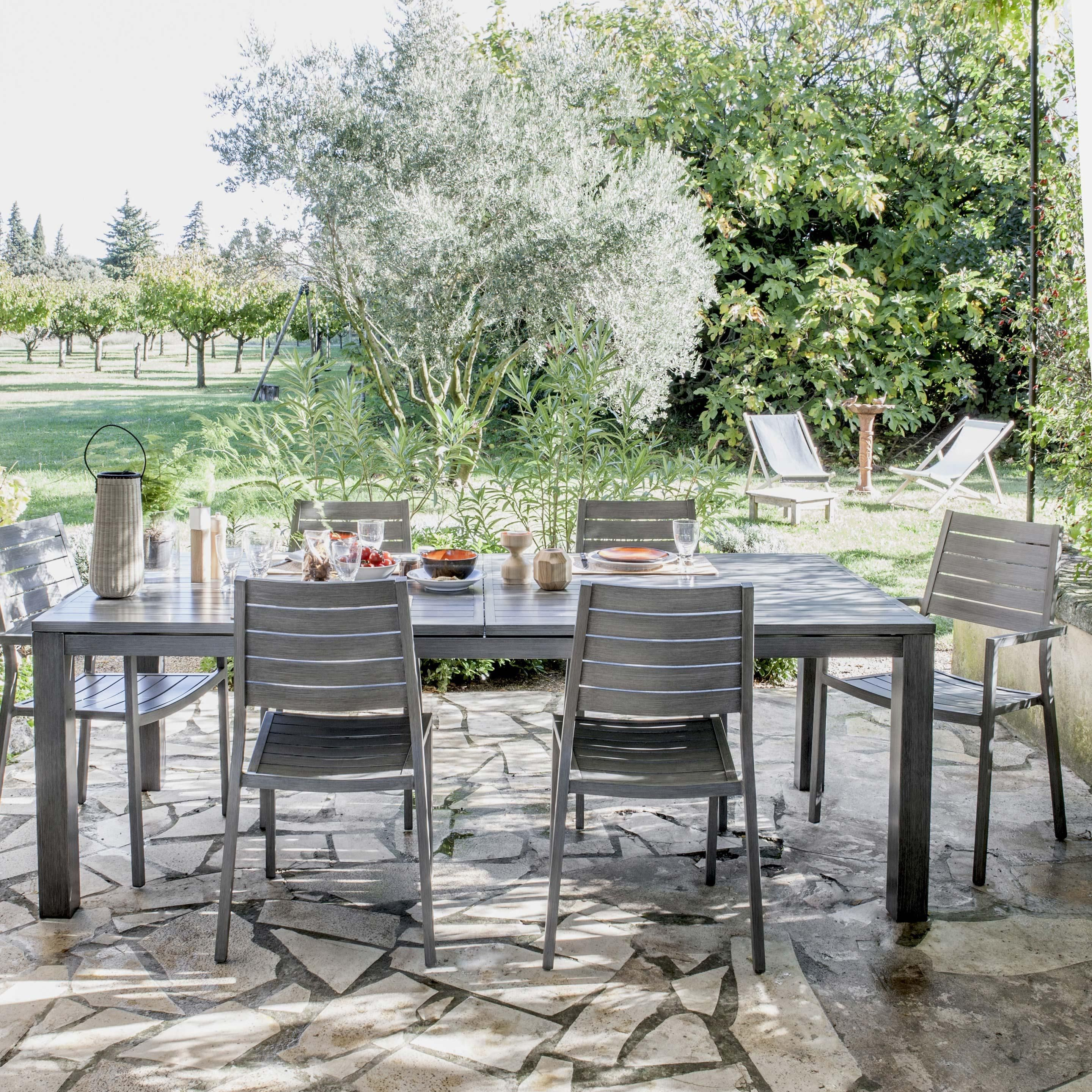 Table De Jardin De Repas Naterial Antibes Rectangulaire dedans Table De Jardin 10 Personnes