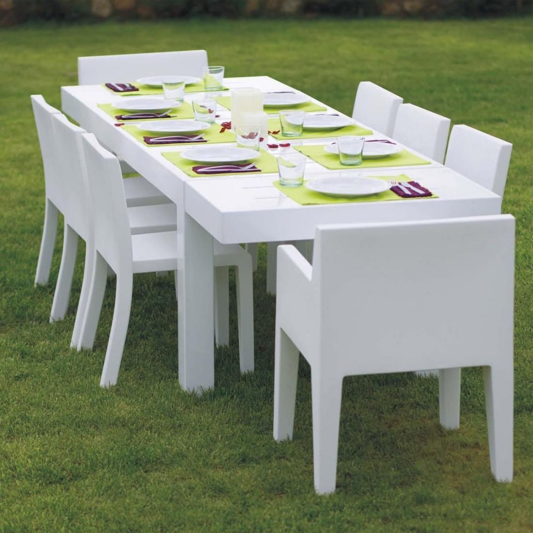 Table De Jardin Design 10 Personnes Jut Par Vondom destiné Table Jardin 10 Personnes