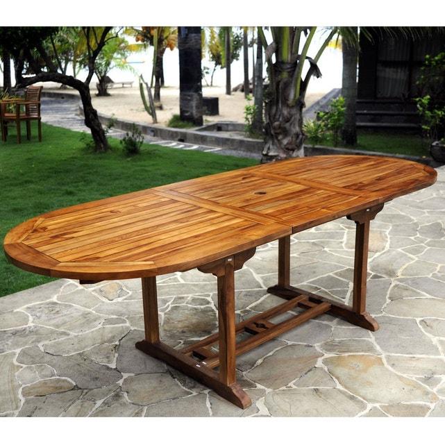 Table De Jardin En Teck Pour 10 Personnes - Table Ovale tout Table Jardin 10 Personnes