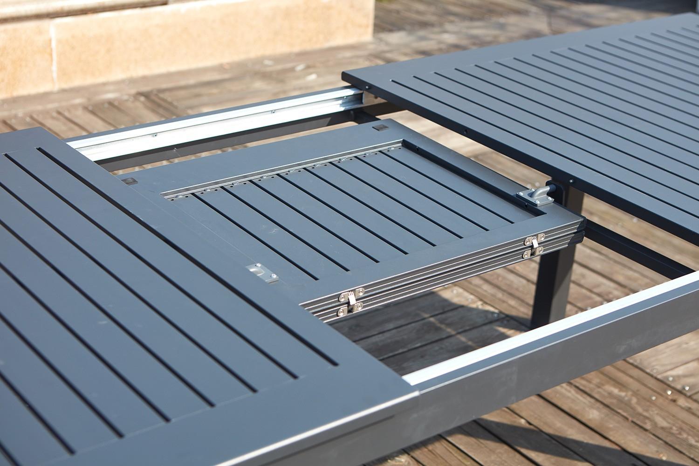 Table De Jardin Extensible + 10 Chaises En Aluminium encequiconcerne Table Jardin 4 Personnes