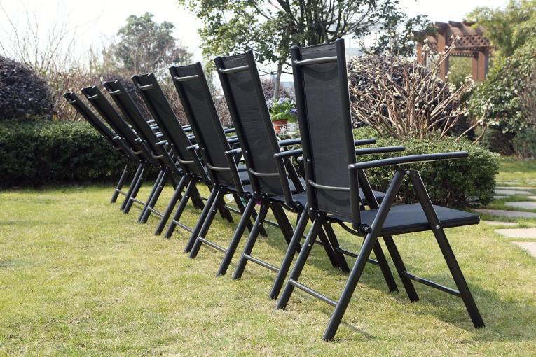 Table De Jardin Extensible 12 Personnes + 10 Chaises En destiné Table De Jardin 10 Personnes