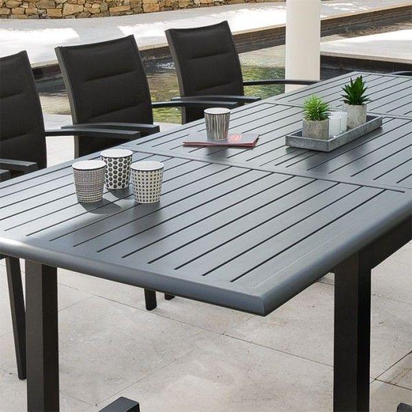 Table De Jardin Extensible Aluminium Azua (240 X 100 Cm tout Table De Jardin Aluminium Jardiland