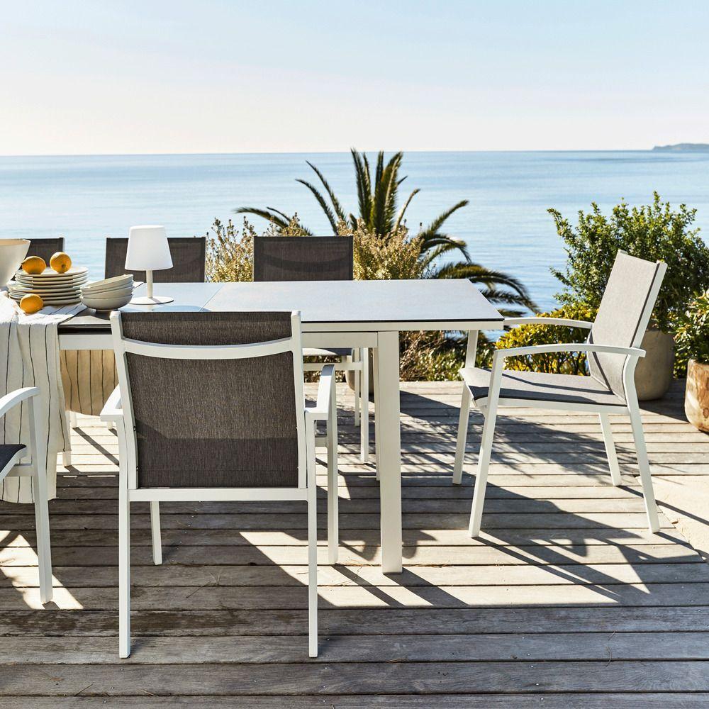 Table De Jardin Extensible En Verre Et Aluminium (6 À 10 tout Alinea Fauteuil Jardin