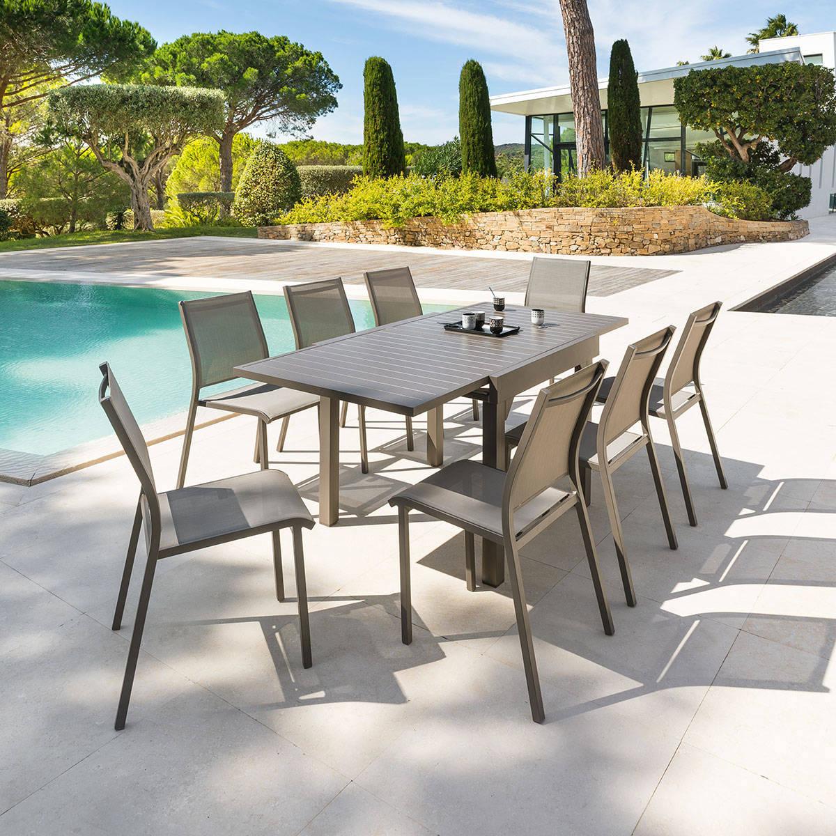 Table De Jardin Extensible Piazza Tonka Hespéride 8 Places concernant Chaise De Jardin Hesperide