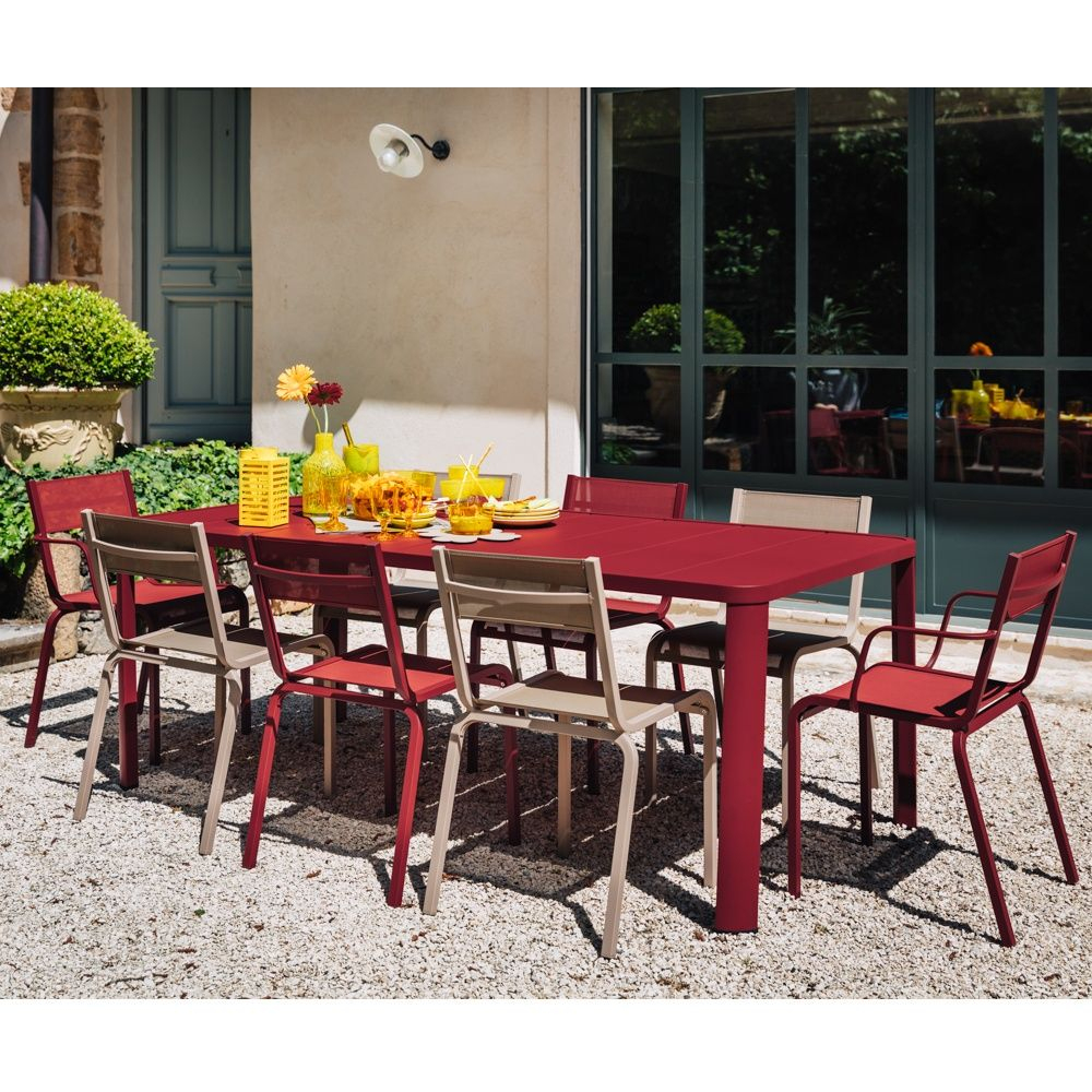 Table De Jardin Fermob Oléron L205 L100 Cm Aluminium dedans Table De Jardin Aluminium Jardiland