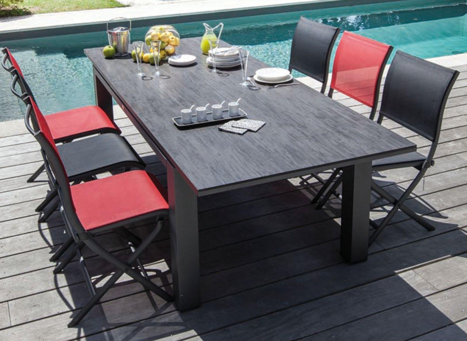 Table De Jardin Flo 180/240 Cm, Plateau Hpl Océo à Kettler Table De Jardin