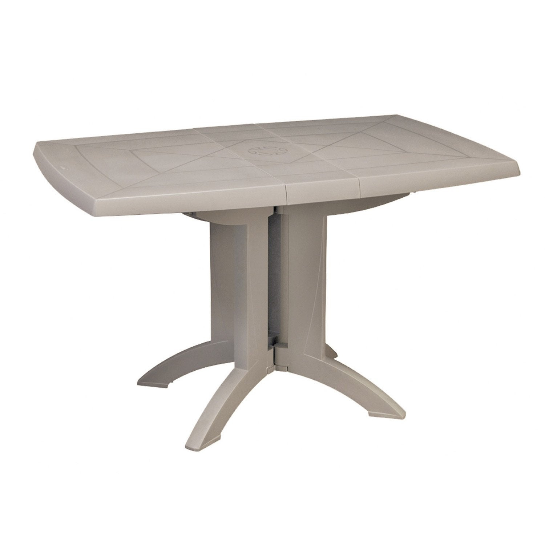 Table De Jardin Grosfillex Véga Rectangulaire Lin 4 serapportantà Table Jardin 4 Personnes