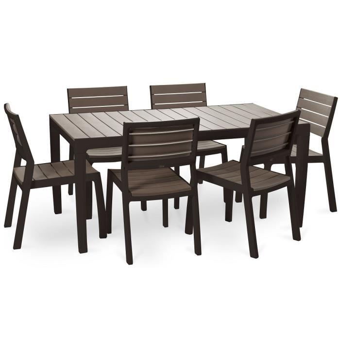 Table De Jardin Imitation Bois encequiconcerne Table Et Chaise De Jardin En Resine