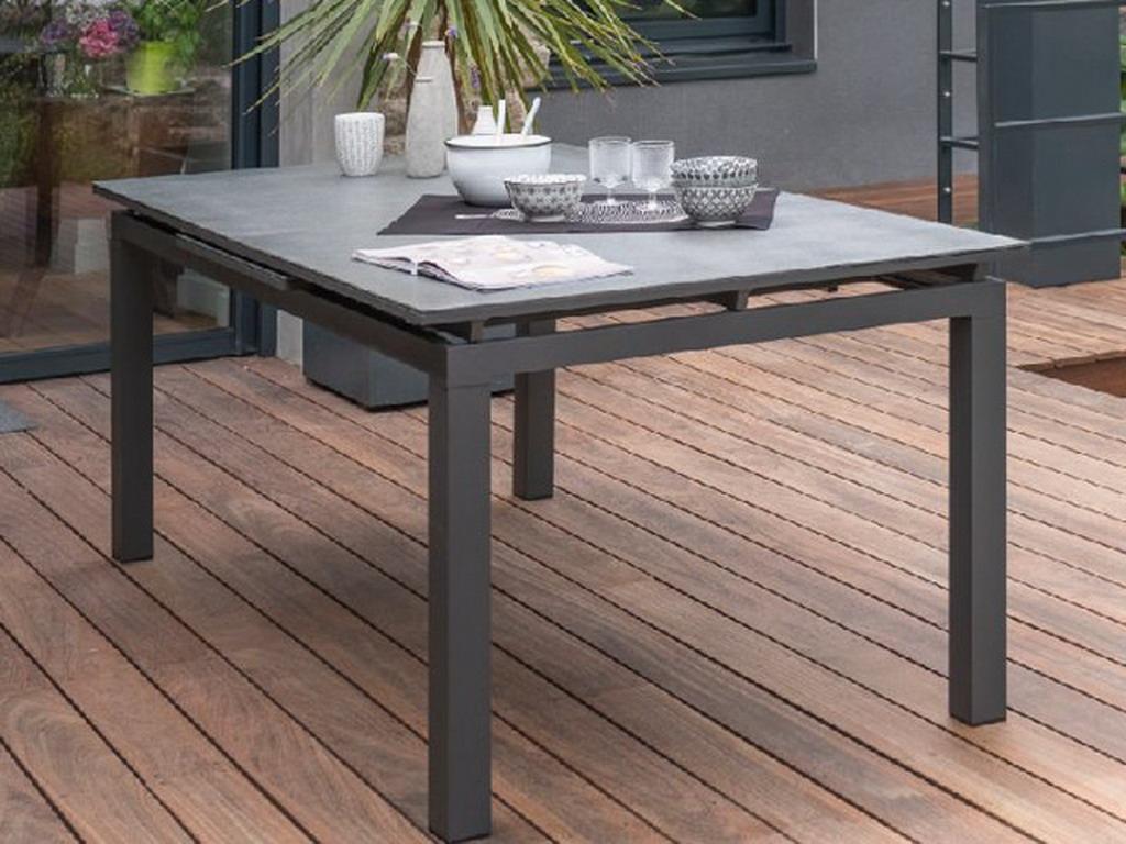 Table De Jardin Miami Aluminium Plateau Verre Avec dedans Table De Jardin Aluminium Jardiland