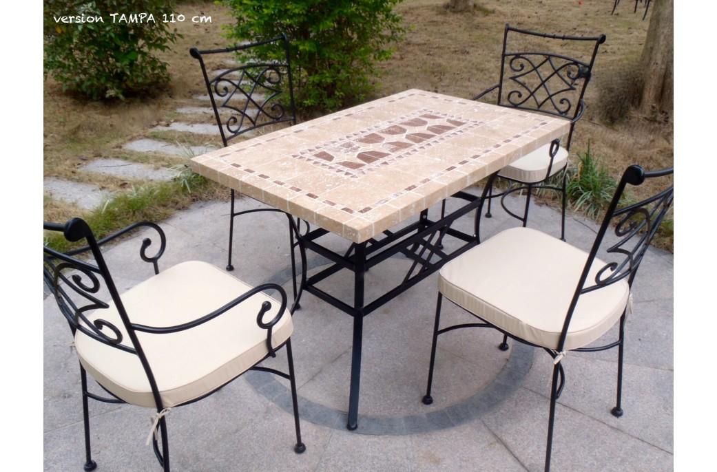 Table De Jardin Mosaïque En Pierre Naturelle Tampa 160 Et avec Kettler Table De Jardin