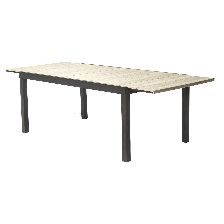 Table De Jardin Polywood Rectangulaire Gris 10 Personnes intérieur Table Jardin 10 Personnes