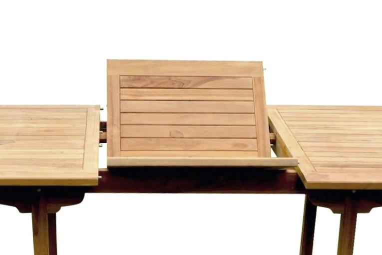 Table De Jardin Rectangle Teck 6 Places 4 Chaises + 2 à Table Jardin 4 Personnes