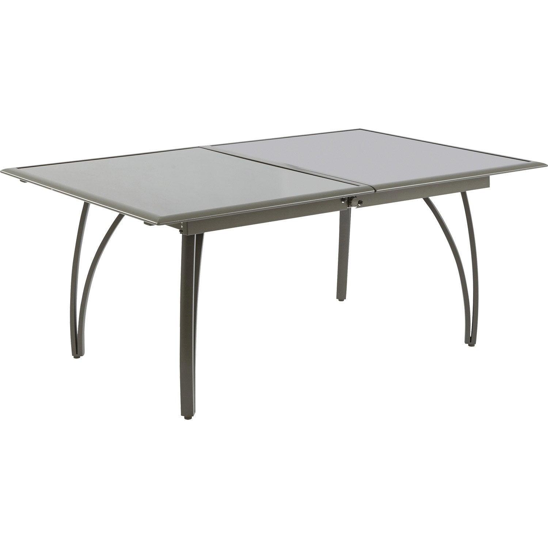 Table De Jardin Rectangulaire Brun / Marron 10 Personnes tout Table Jardin 10 Personnes