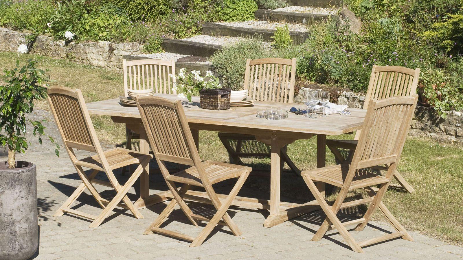 Table De Jardin Rectangulaire Extensible En Teck 180 tout Kettler Table De Jardin