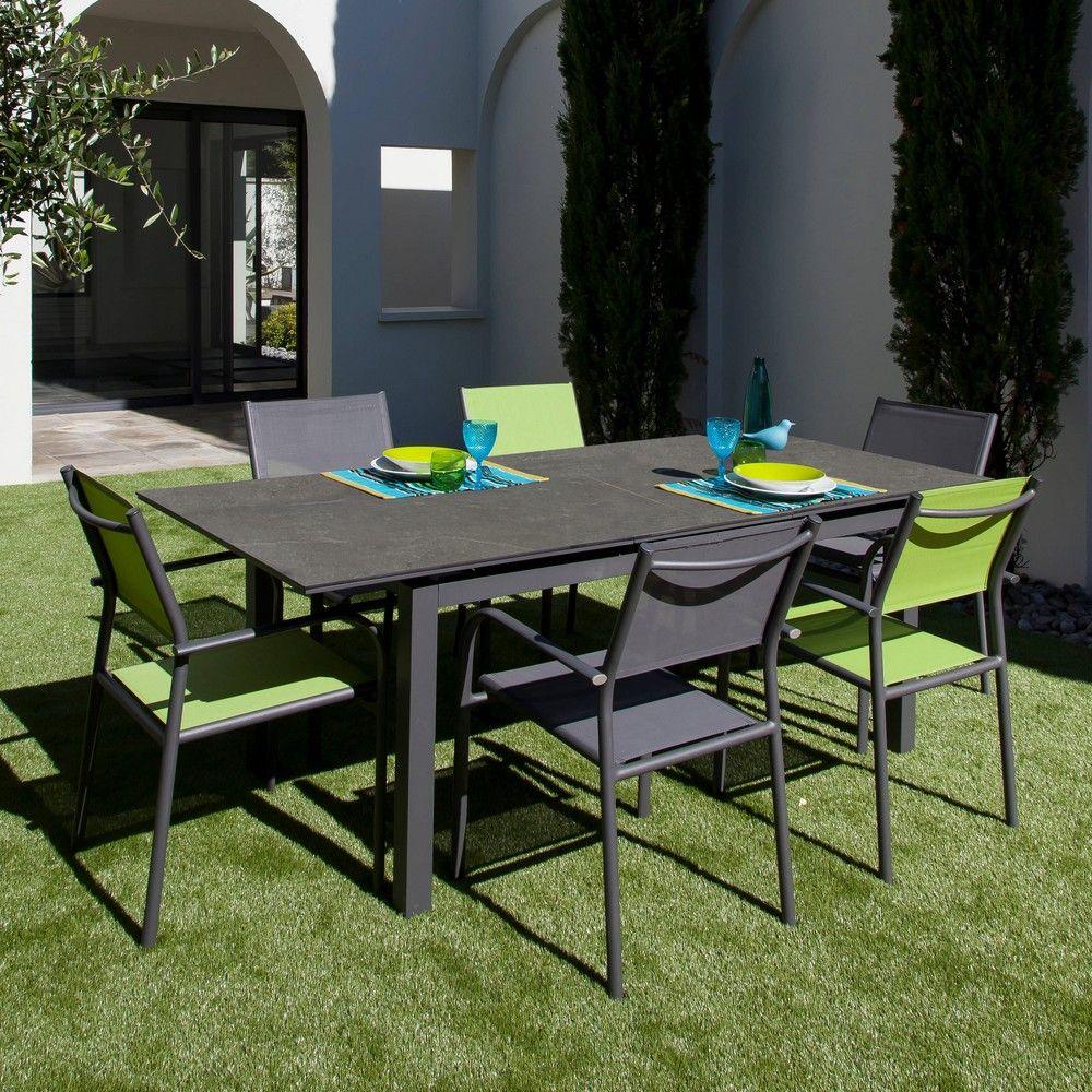 Table De Jardin Soto L180/235 L90 Cm Aluminium Gris - Gamm intérieur Kettler Table De Jardin
