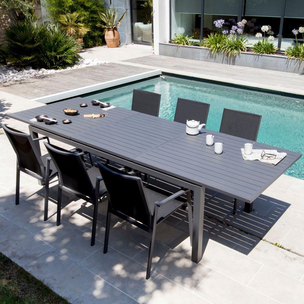 Table De Jardin Trieste Aluminium L130/180 L82 Cm Gris 138 à Table De Jardin Aluminium Jardiland