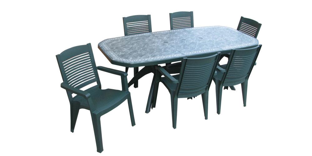 Table De Jardin Verte Pas Cher tout Table De Jardin Pas Chere