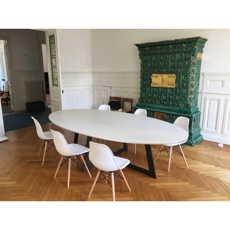 Table De Salle À Manger Céramique Carat Blanc Cassé - Déco concernant Table A Manger Design