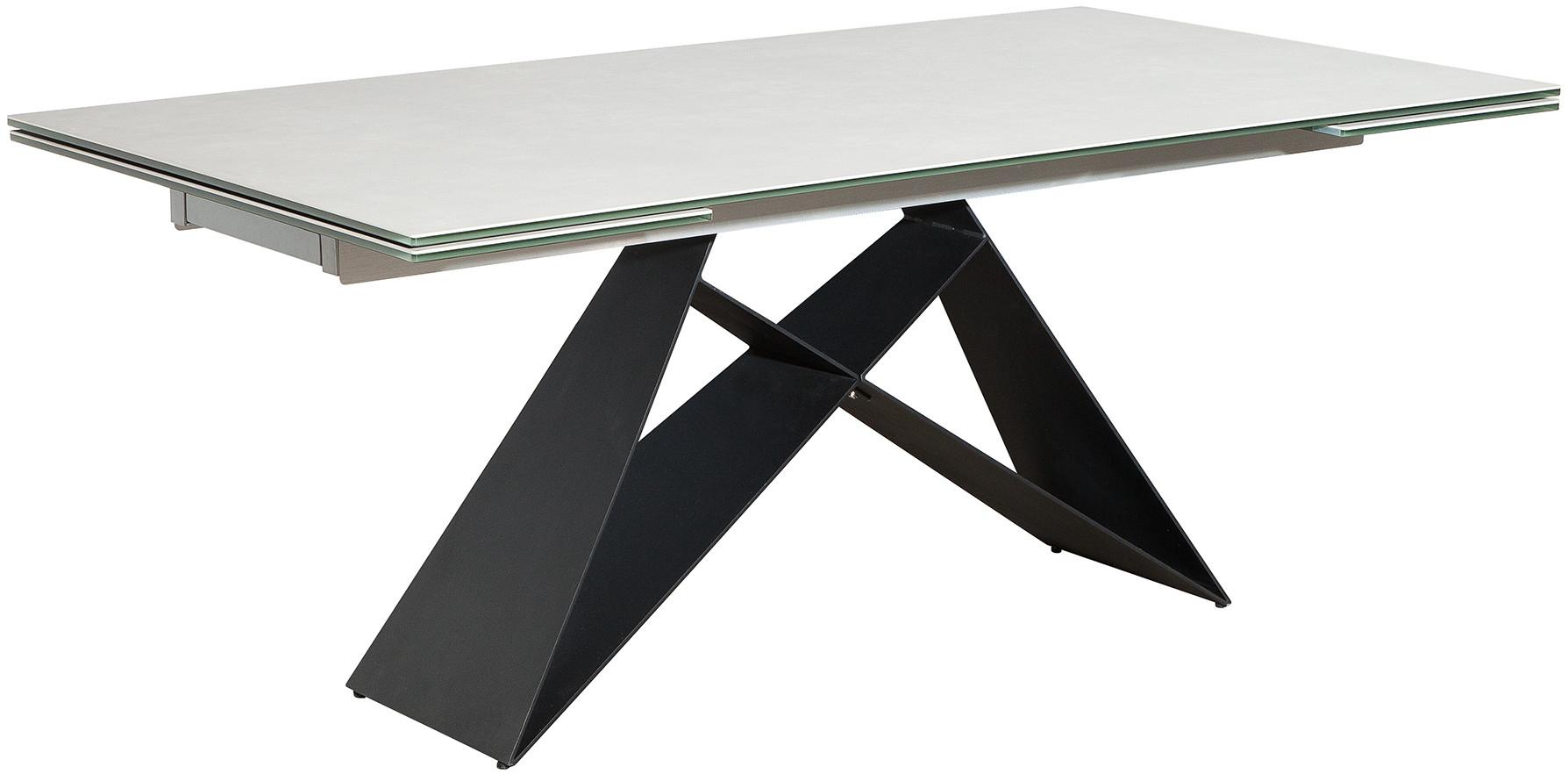 Table De Salle À Manger Extensible Gris Clair Design En tout Table Salle A Manger Plateau Ceramique