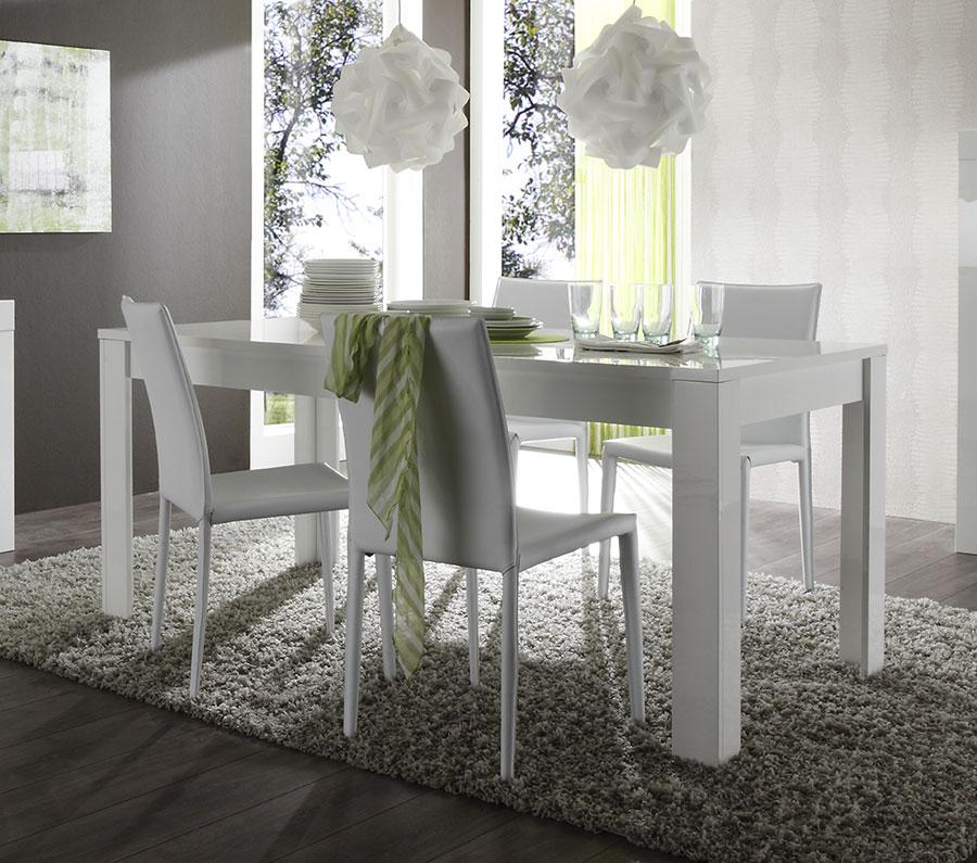 Table De Salle A Manger Laquée Blanche Avec Rallonge Design dedans Table A Manger Design