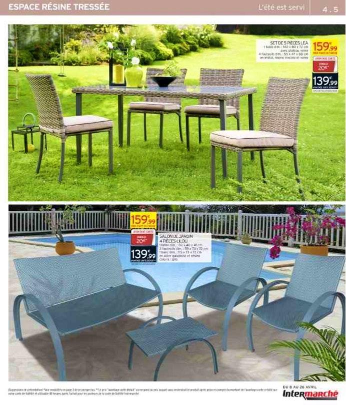 Table De Salon De Jardin Intermarche - Jardin Piscine Et avec Intermarché Table De Jardin
