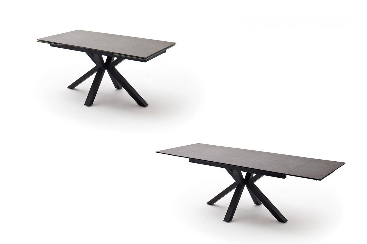 Table Design En Céramique Et Piétement Métal Noir Design dedans Table Salle A Manger Plateau Ceramique