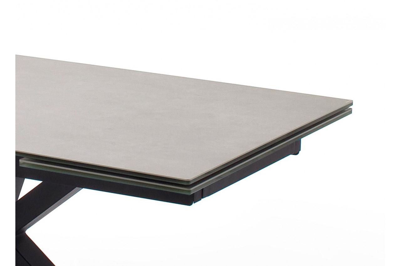 Table Design En Céramique Et Piétement Métal Noir Design tout Table Salle A Manger Plateau Ceramique