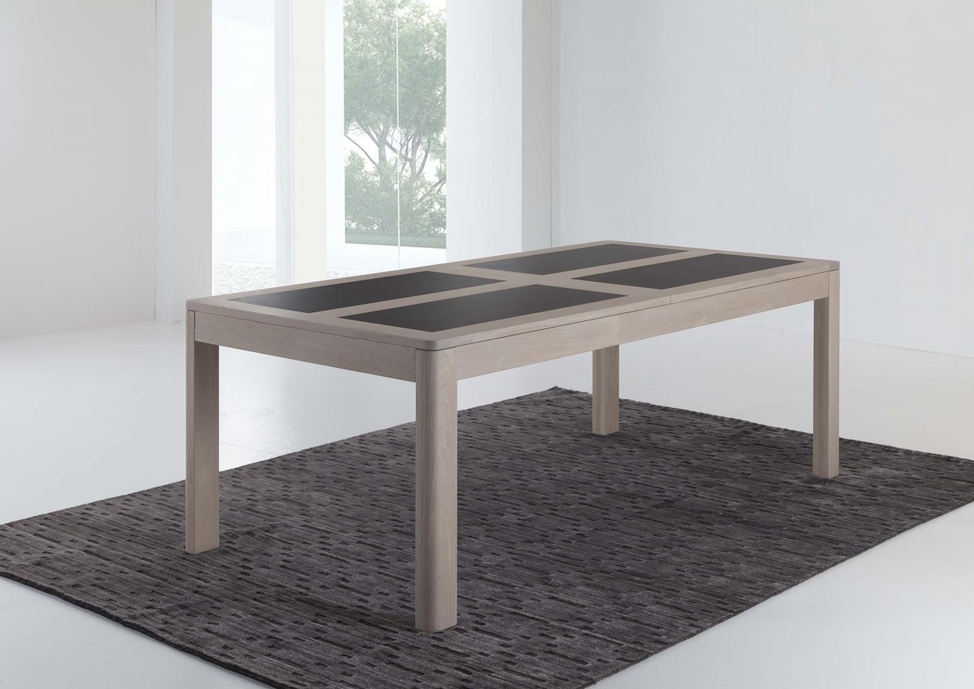 Table En Chêne Massif Avec Céramique Sur Plateau destiné Table Salle A Manger Plateau Ceramique