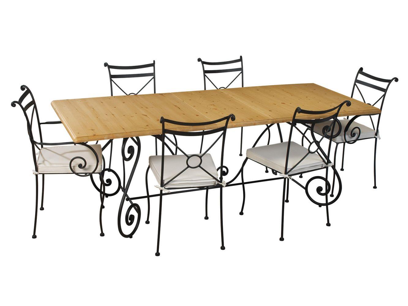 Table En Fer Forgé Pour Salle À Manger - Meuble Et tout Table Salle A Manger En Fer Forgé