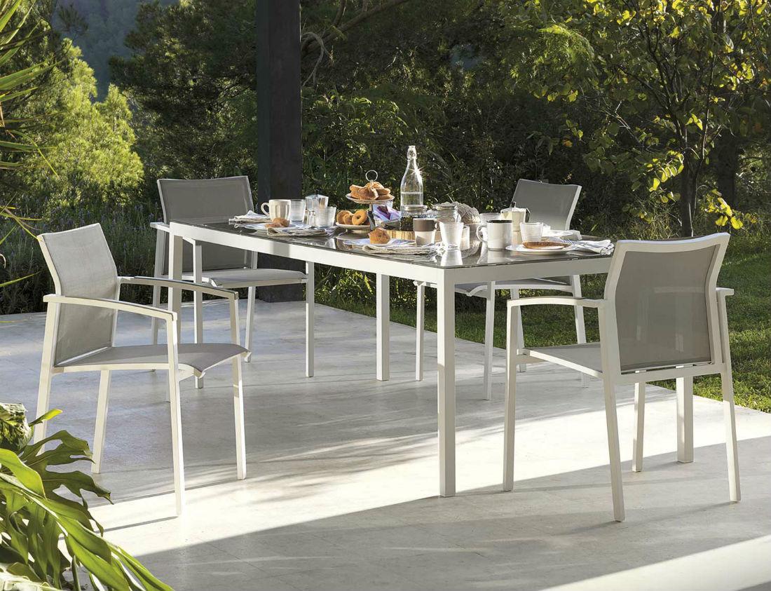 Table Et 6 Chaises De Jardin En Aluminium - Brin D'Ouest pour Table De Jardin Aluminium Jardiland