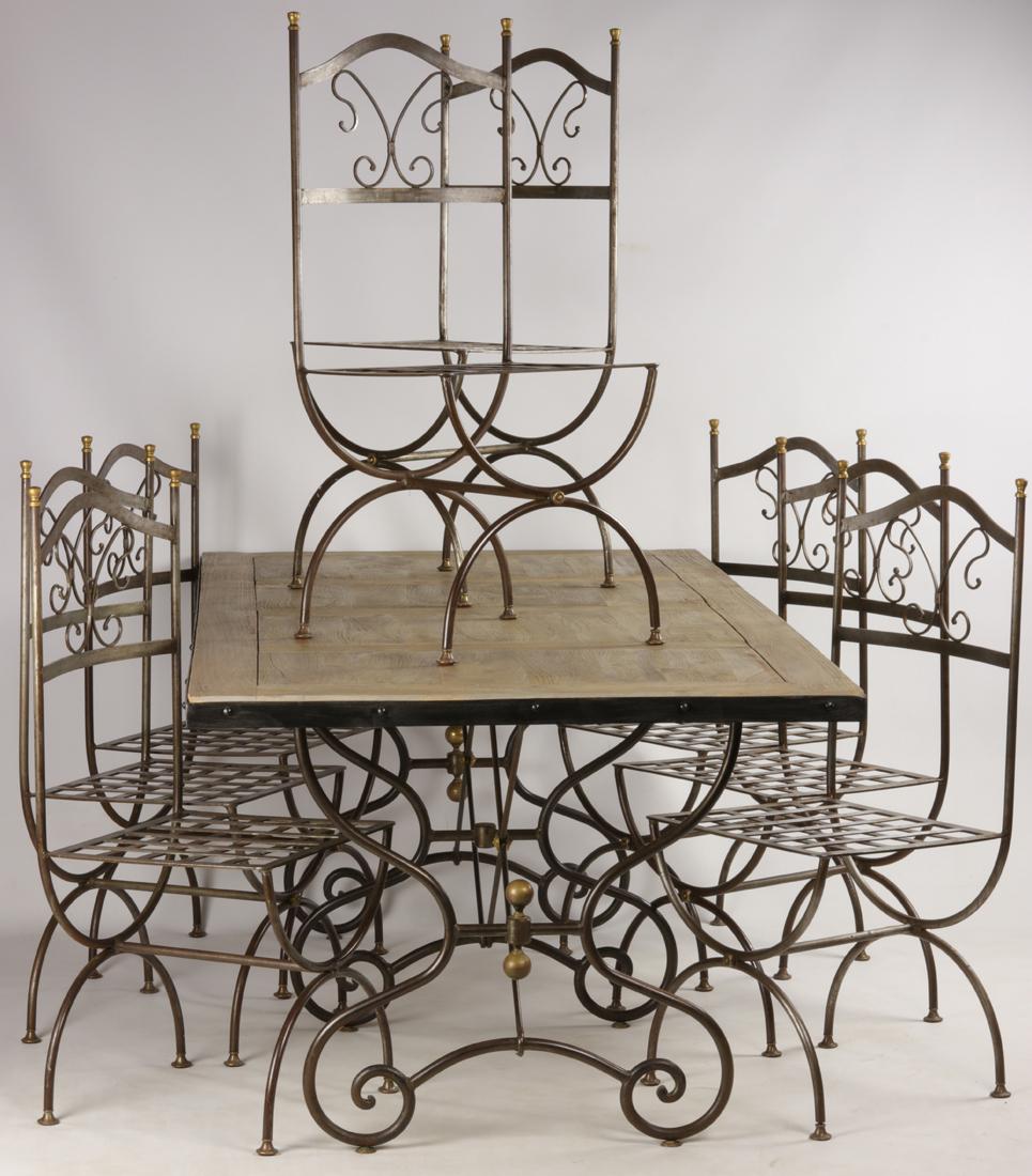 Table Et 8 Chaises En Fer Forgé - Tables Salle À Manger avec Table Salle A Manger En Fer Forgé