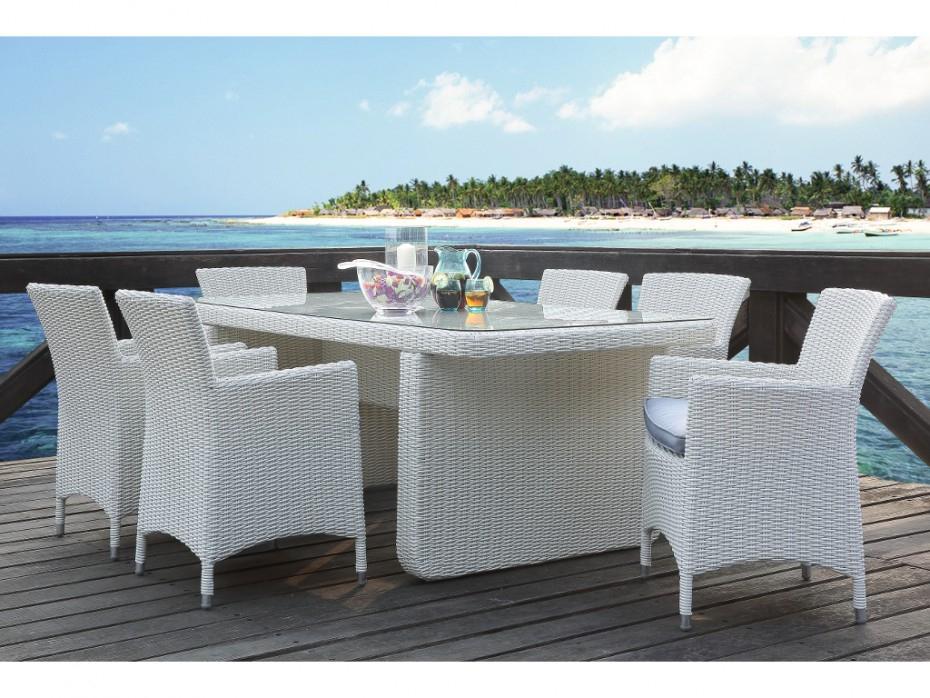 Table Et Chaise De Jardin En Resine Blanc - Veranda à Table Et Chaise De Jardin En Resine