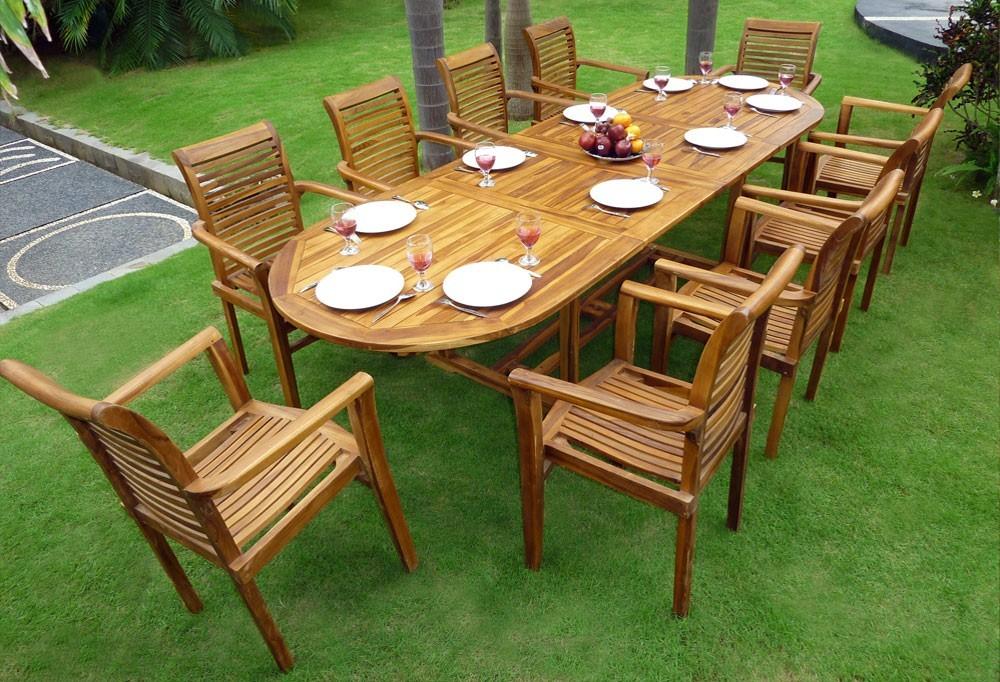 Table Et Chaise De Jardin En Teck Pas Cher - Veranda dedans Table De Jardin Pas Chere