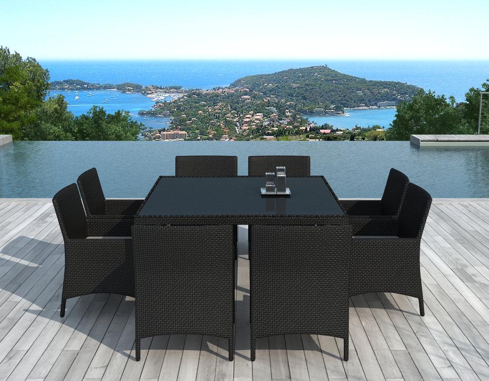 Table Et Chaises De Jardin 8 Personnes En Résine Tressée dedans Table Et Chaise De Jardin En Resine