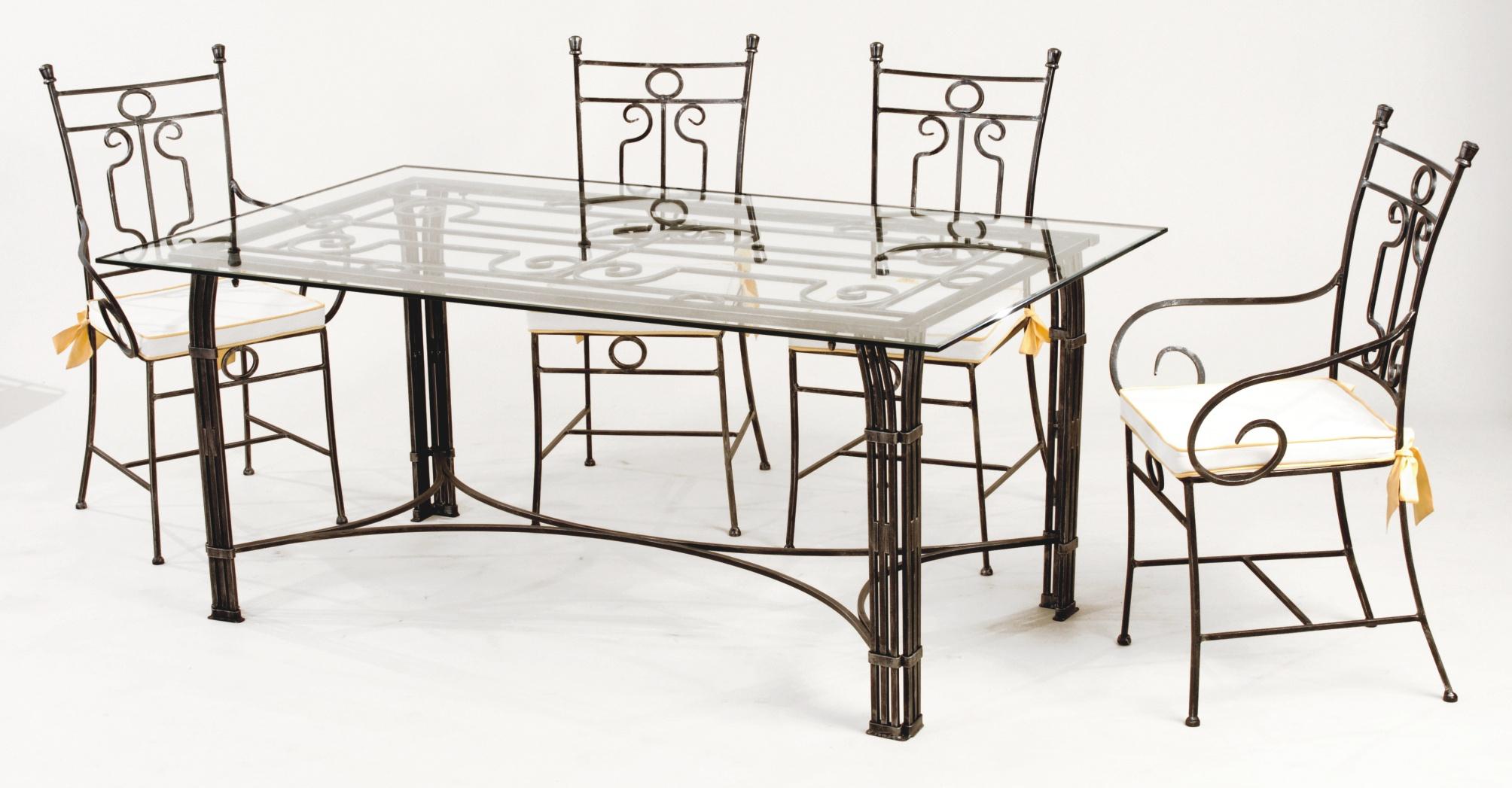 Table Et Chaises Fer Forgé Vivaldi concernant Table Salle A Manger En Fer Forgé
