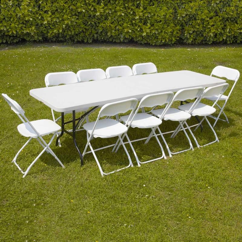 Table Et Chaises Pliantes 10 Personnes Pro encequiconcerne Table Jardin 10 Personnes