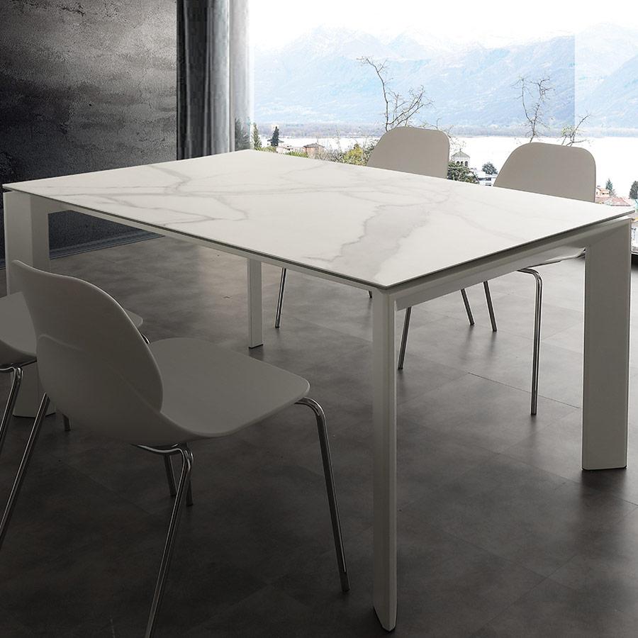 Table Extensible En Céramique Effet Marbre Eva intérieur Table Salle A Manger En Marbre