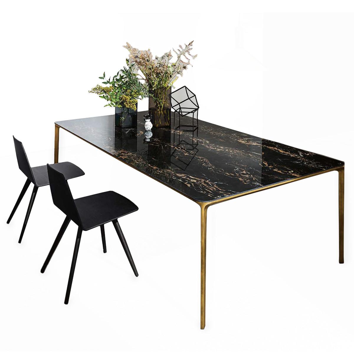 Table Extensible Light Marbre | Meubles Et Atmosphère concernant Table Salle A Manger En Marbre