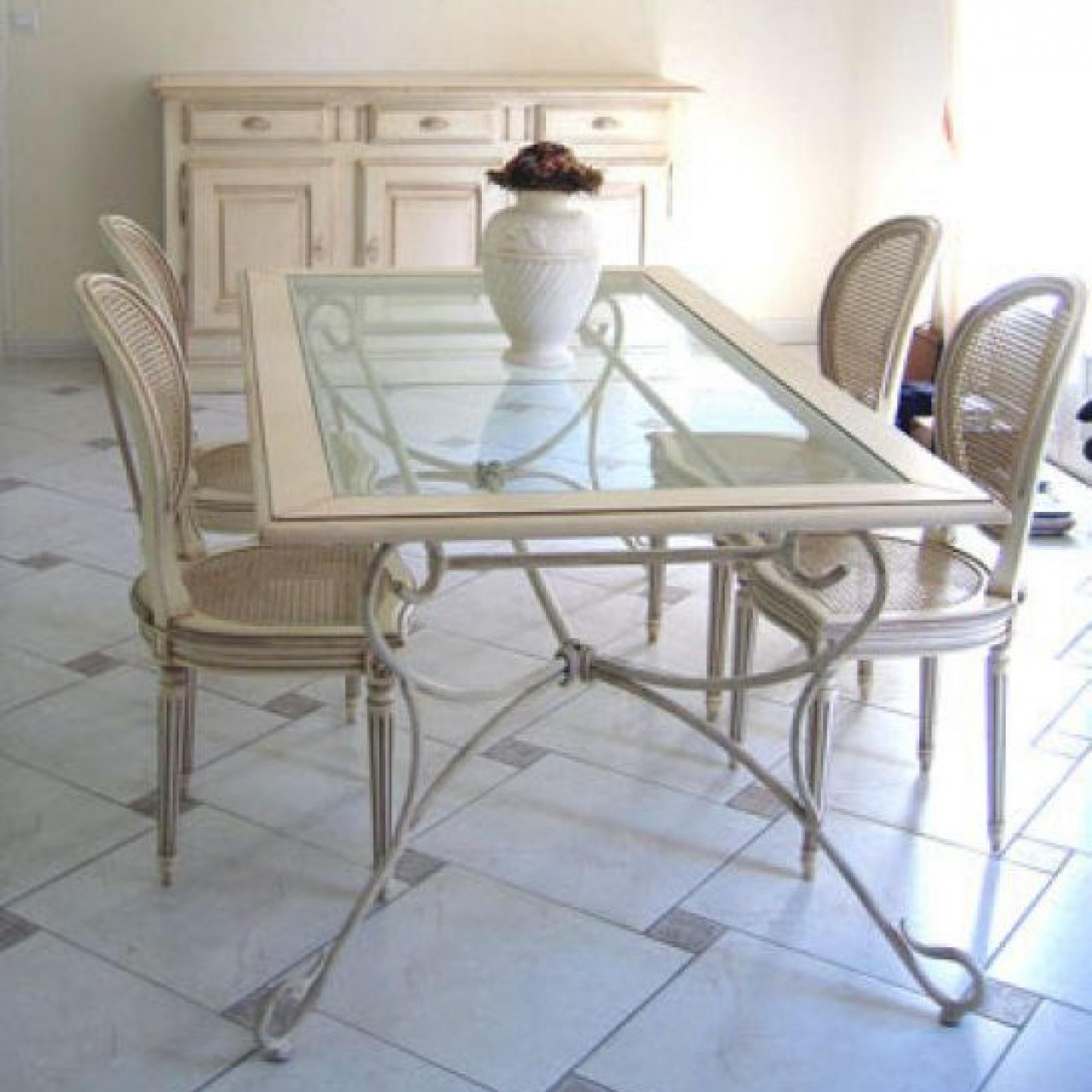 Table Fer Forgé Rectangle - Fanny tout Table Salle A Manger En Fer Forgé