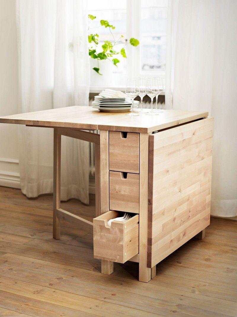 Table Gain De Place Pliante, Rabattable Ou Gigogne ? | Table dedans Table Salle A Manger Pliante Ikea
