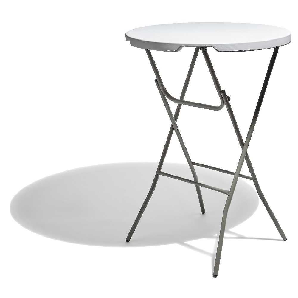 Table Haute Ronde Pliante Fiesta Blanche - Table De Jardin encequiconcerne Table De Jardin Gifi