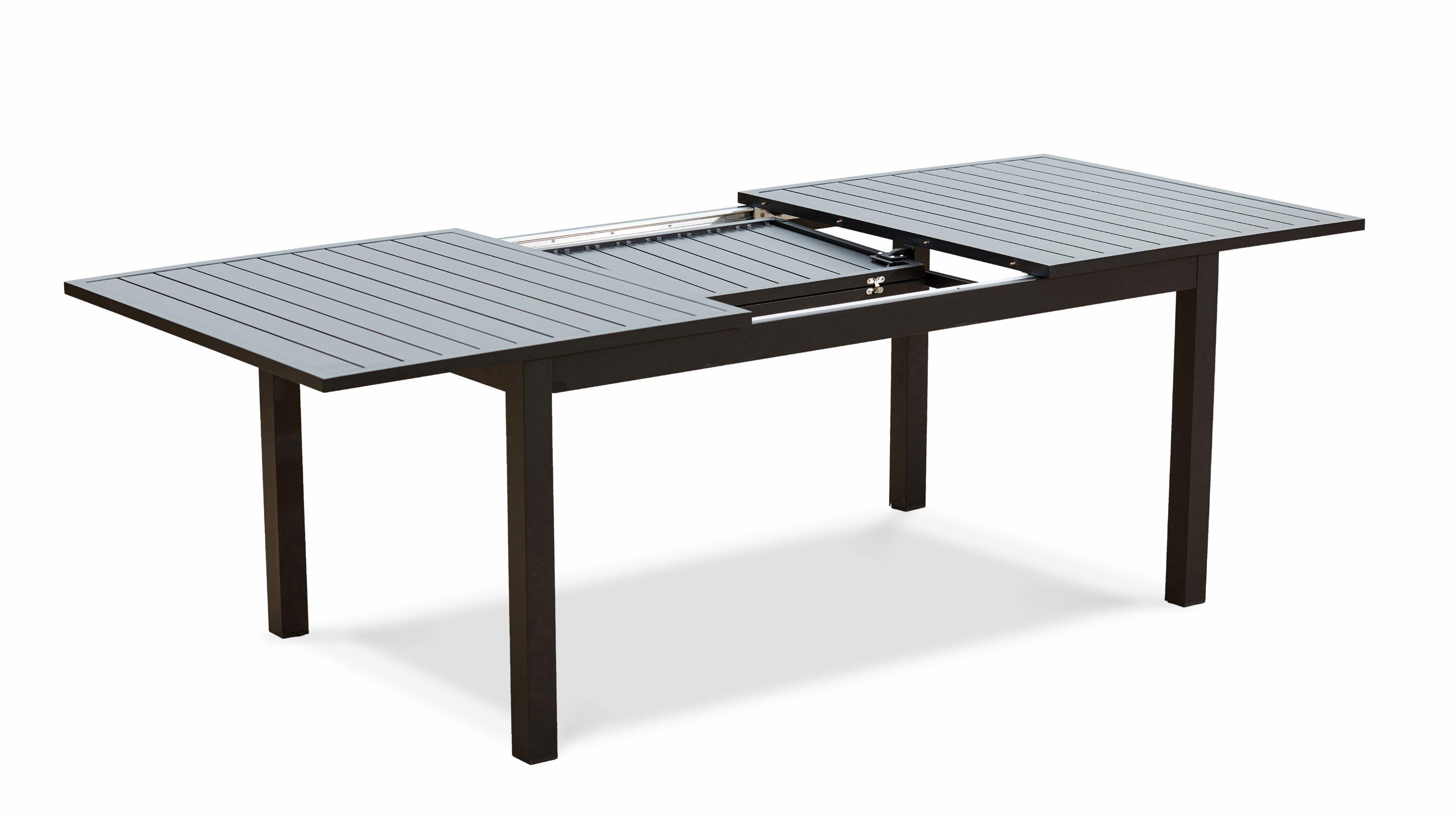 Table Jardin Extensible Rallonge 174/238 Cm Aluminium concernant Salon De Jardin Aluminium 8 Places
