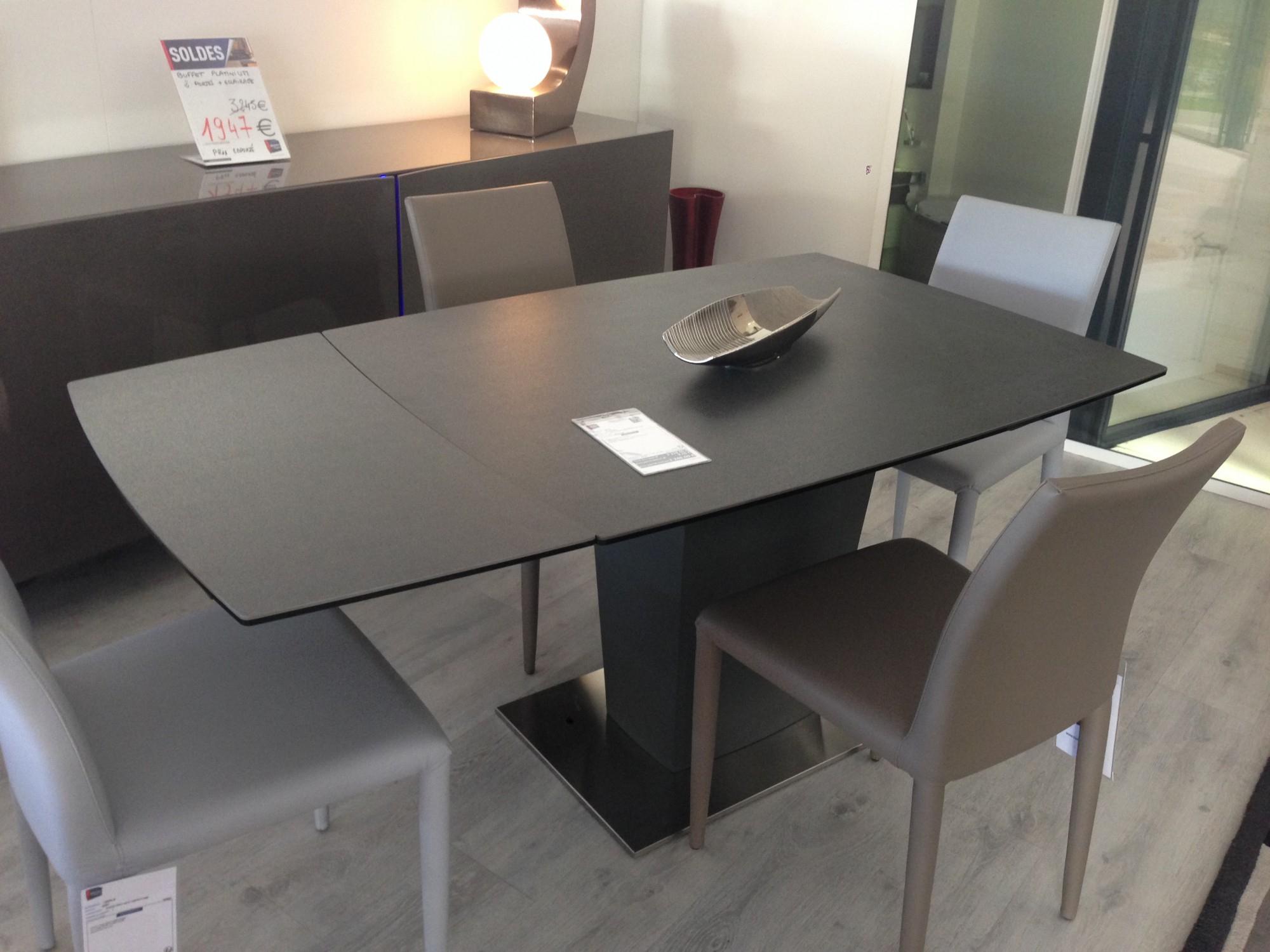Table Moderne Copernico Plateau Céramique Toulon - Mobilier tout Table Salle A Manger Plateau Ceramique