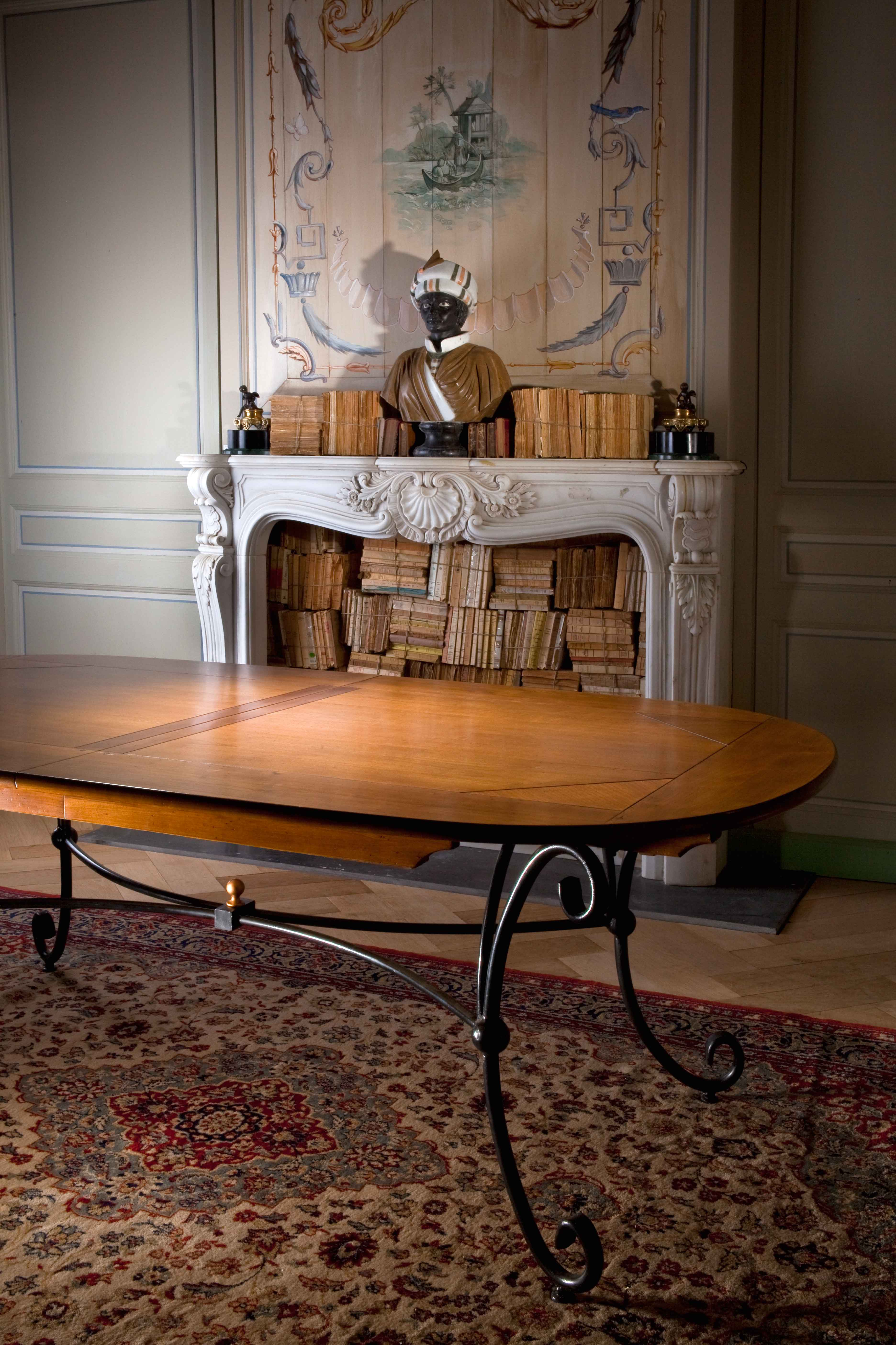 Table Ovale Club Piettement Fer Forgé La Qualité Française intérieur Table Salle A Manger En Fer Forgé