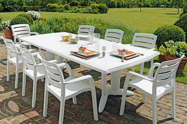 Table Rabattable Cuisine Paris: Table Jardin Pvc Pas Cher dedans Table De Jardin Pas Chere