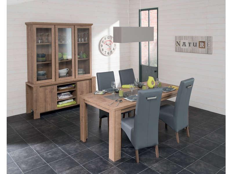 Table Rectangulaire 180 Cm (Allonge En Option) Brest concernant Table Salle À Manger Conforama