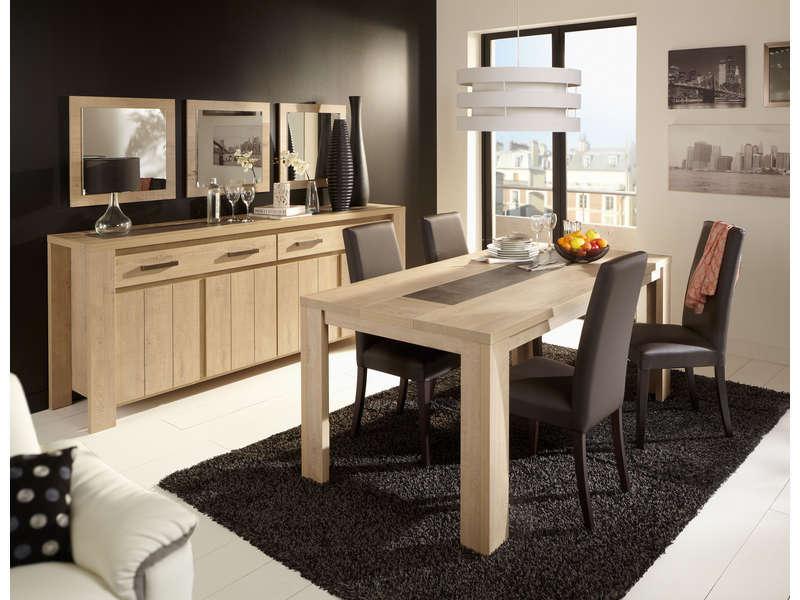 Table Rectangulaire 180 Cm Brest Nature Coloris Chêne destiné Table Salle A Manger Conforama