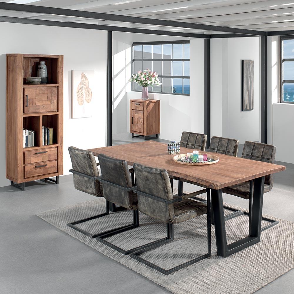 Table Rectangulaire Brent L'esprit Du Mobilier Industriel. dedans Magasin & Dépôt Cocktail Scandinave Montpellier
