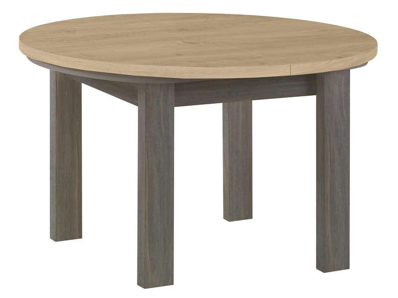 Table Ronde Avec Allonge 120 Cm Max Toscane Coloris Gris serapportantà Table Salle A Manger Conforama