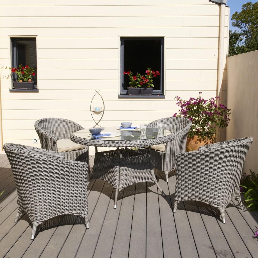 Table Ronde De Salon De Jardin En Plastique - Abri De pour Salon De Jardin Pas Cher En Plastique